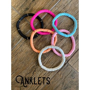 Heishi Bead Anklet (Choose Your Color)
