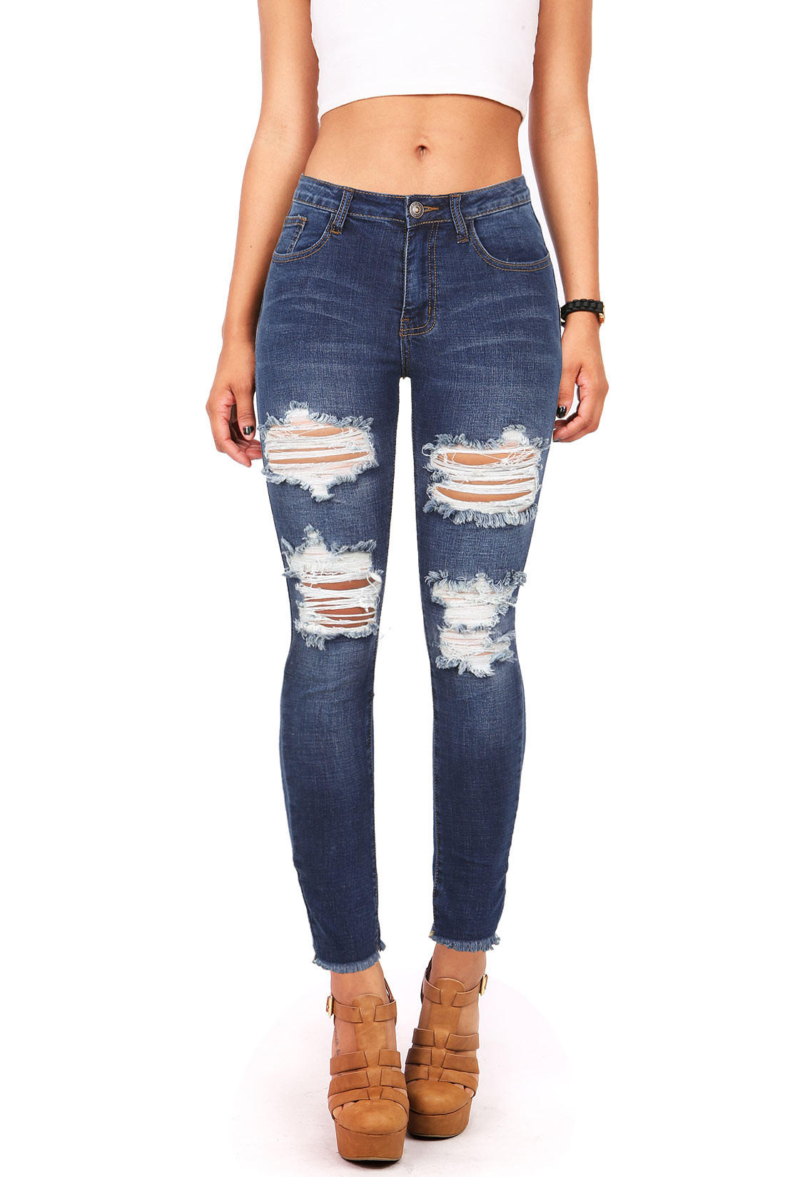 Image of Deconstruct Ankle Skinny Jeans