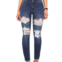Deconstruct Ankle Skinny Jeans