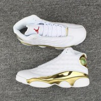 Nike Jordans retro 13 Limted edition Gold and White
