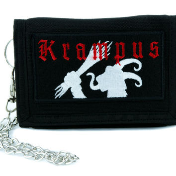 Evil Christmas Krampus Tri-fold Wallet Occult Clothing Horror Movie Cult Classic