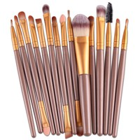 New Professional 15 PCS Makeup Brushes Set Tools Make-up Toiletry Kit Make Up Brush Set Case Cosmetic Foundation Brush