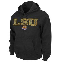 Majestic LSU Tigers Hint of Destiny Pullover Hoodie - Charcoal