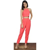 With You and My Coral Two-Piece Set