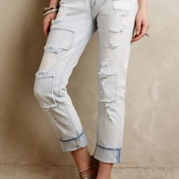 7 For All Mankind Distressed Patchwork Jeans