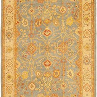 Antiquity Traditional Indoor Area Rug Blue / Ivory