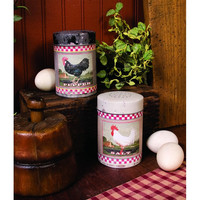 ROOSTER SALT AND PEPPER SHAKERS  SET OF 2