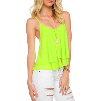 Highlight Of My Day Top - Lime