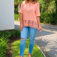 So Darling Blouse: Coral Peach