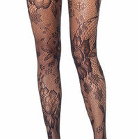 Sexy Floral Lace Sheer Pantyhose