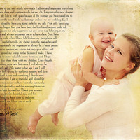Mother of the Bride Parent Thank You Gift  Photo Art Custom Photo Editing