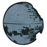 Rebuilding of the Death Star Patch Iron on Applique Star Wars Alternative Clothing
