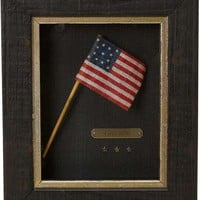 Centennial Celebration 13-Star Flag Waver on Original Wooden Stick, Circa 1876