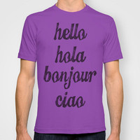 Hello Colors T-shirt by MN Art | Society6
