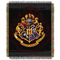 Harry Potter Exclusive Hogwarts Crest Tapestry Throw | HarryPotterShop.com