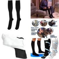 Men Women Comfortable Stockings Slim Fit Relief Soft Unisex Miracle Copper Anti-Fatigue Compression Stocking Shaping Stocking
