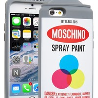 Moschino Spray Paint Can iPhone 6 Case - White