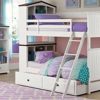 Josie Twin over Twin Dollhouse Bunk Bed