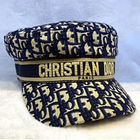 Dior fisherman hat Full print DG military cap