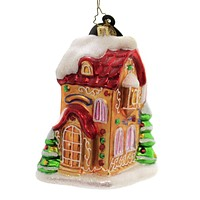 Christopher Radko GINGERVILLE LANE  Glass Ornament Two Story House 1013129  A