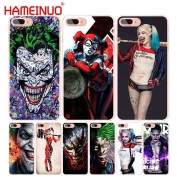 HAMEINUO suicide squad Joker harley quinn Margot Robbie  cell phone Cover case for iphone 6 4 4s 5 5s SE 5c 6 6s 7 8 plus X