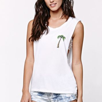 Element Summer Forever Muscle Tank Top - Womens Tee - White