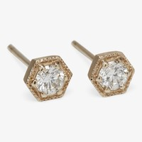 Satomi Kawakita Hexagon Stud Earrings