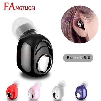 FANGTUOSI Mini Wireless Bluetooth Earphone V5.0 Stereo in-ear Headset with Mic Sports Running Earbuds Earphones for Android IOS