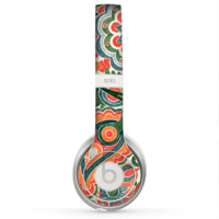 The Vintage Hand-Painted Coral Abstract Pattern Skin for the Beats by Dre Solo 2 Headphones