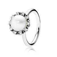 PANDORA Everlasting Grace Pearl Ring - Size 5