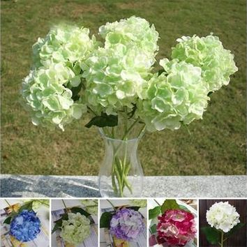 Faux Artificial Silk Floral Flower Bouquet Hydrangea Party Decor Craft [7981213191]