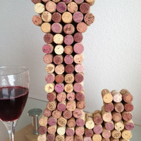 L is for LOVE Personalized wine cork letters
