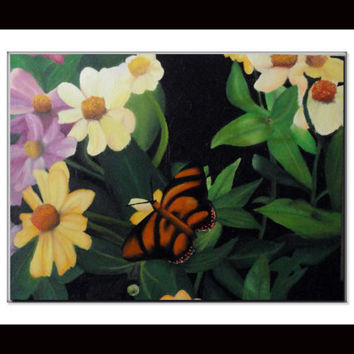 Archival Butterfly Print - Affordable Art - Floral Decor - SamIamArt