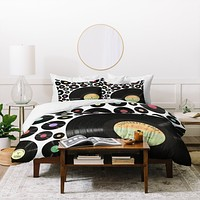 Belle13 Golden Oldies Vinyl Love Duvet Cover
