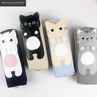 Pencil Case Kawaii Cats School Supplies