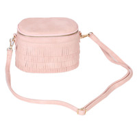 Pink Fringe Detail Cross Body Toiletry Bag