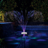 The Floating Lighted Pool Fountain