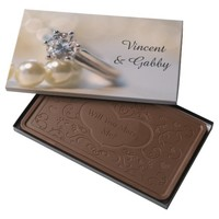 Diamond Ring and Pearls Will You Marry Me Milk Chocolate Bar
