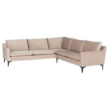 Nuevo Anders L Sectional Sofa - Nude