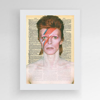 Instant download, David Bowie Art, David Bowie Poster, David Bowie Print, Bowie gift, Bowie wall art, Music vintage poster, dictionary art