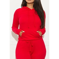 Set You On Track Sweater  Red