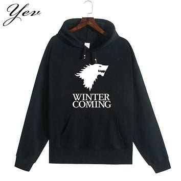 2016 Game of the throne Sweatshirt Men Hoodies Solid Fleece Hoodie Mens casual Pullover Men's clothes winter male tracksuit