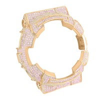 Baby G-Shock Iced Out Pink Rose Gold Finish Watch Bezel