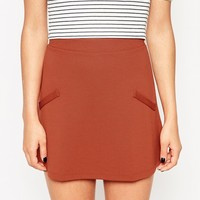 ASOS A-Line Skirt in Ponte with Pockets