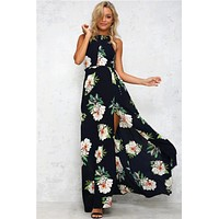 Cindee Lane Boho High-Neck Maxi Dress