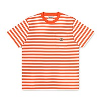 Scotty Stripe Pocket Tee in Clockwork