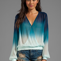 Young, Fabulous & Broke Astrid Ombre Top in Navy from REVOLVEclothing.com