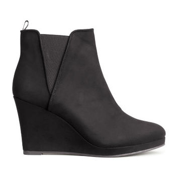 H&M Wedge-heel Boots $30
