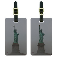 Statue of Liberty New York City in Fog Luggage Tag Set