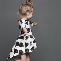 Women Cotton Floral Printed One Piece Dress Kids Boys Girls Baby Clothing Toddler Bodysuits Products For Children _ 4727